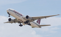 QATAR AIRWAYS CARGO B777-F A7-BFA 001 (A.S. Kevin N.V.M.M. Chung) Tags: aviation aircraft aeroplane airport airlines plane spotting mfm macauinternationalairport takeoff departure cargo qatar boeing b777 b777f freight