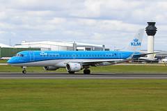 PH-EZR Embraer E-190-100STD KLM Cityhopper MAN 05JUL19 (Ken Fielding) Tags: phezr embraer e190100std klmcityhopper aircraft airplane airliner jet jetliner regionaljet aviation