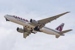 QATAR AIRWAYS CARGO B777-F A7-BFA 0011 (A.S. Kevin N.V.M.M. Chung) Tags: aviation aircraft aeroplane airport airlines plane spotting mfm macauinternationalairport takeoff departure cargo qatar boeing b777 b777f freight
