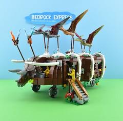 The Bedrock Express 1/5 (Alex THELEGOFAN) Tags: lego legography bedrock express shuttle contest flintstones fly airplane vehicle dinosaur ship