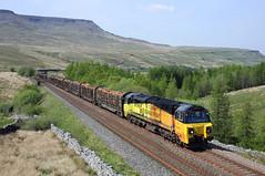 70801 Ais Gill 14/5/19 (Ram 69) Tags: 70801 6j37 aisgillsummit colasrailfreight class70 sc settle carlisle railway logs