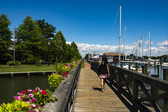 St. Michaels (StateMaryland) Tags: anthony burrows 2019 history historic maritime nautical eastern shore tourist tourism shop shopping small town shopsmall walkway overpass bridge flowers woman marina sailboat sail