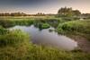 Evening on the Nene Near Water Newton