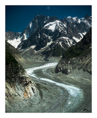 Icy Serpent (Augmented Reality Images (Getty Contributor)) Tags: nisifilters alpine alps bluesky canon chamonix europe france glacier grandesjorasses ice landscape merdeglace montblancmassif moraine mountains rock snow summer vanguard