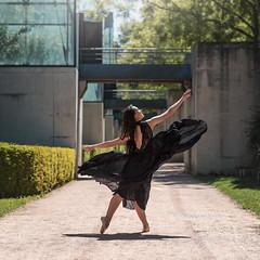 (dimitryroulland) Tags: nikon d750 85mm 18 dimitryroulland performer art artist black dress pointe dance dancer ballet ballerina paris france garden natural light nature