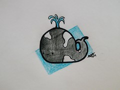 Cute Killer Whale (Ephraim Fowler) Tags: ephraimfowler whale cute kawaii water drawing art fadeart