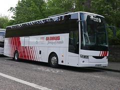 Edinburgh Coach Lines Van Hool EX15H YJ18AYC, Globus Tours liveried, at Johnston Terrace, Edinburgh, on 6 June 2019. (Robin Dickson 1) Tags: busesedinburgh edinburghcoachlines vanhoolex15h globustours yj18ayc