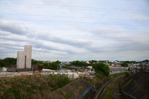 JR Yokohama Line Track and Construction Site of Baba Entrance/Exit of Shutoko K7