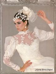 George Maurer 1984 (barbiescanner) Tags: vintage retro fashion vintagefashion weddingdresses 80s 80sfashions 1980s1980sfashions 80sweddingdresses 1980sweddingdresses 1986 georgemaurer