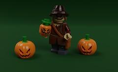 Scarecrow (KoyoteKB) Tags: scarecrow crane fear batman justiceleague dc lego pumpkin toxin scared straw