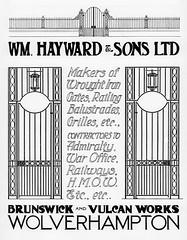 Wm. Hayward & Sons, Wolverhampton. 1930. Ironwork (growlerthecat) Tags: ironwork wroughtiron wolverhampton metalwork hayward
