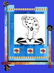 stylish (ladybumblebee) Tags: digitalart digitalcollage collage layers art stylish contemporarywomenartists blues