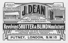 Dean's Blinds and Shutters.1930 (growlerthecat) Tags: dean putney shutter blinds shopfront