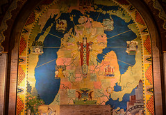 Mural of the State of Michigan map at The Guardian Building - Detroit MI (mbell1975) Tags: detroit michigan unitedstatesofamerica interior art deco design the guardian building mi mural state map us usa america american wayne county administration office
