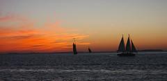 Sunset sail in Key West (Marianna Gabrielyan) Tags: sunset sail key west ocean water sky clouds florida