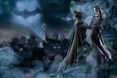 Batman and the Joker (englishgolfer) Tags: batman joker toy statue gotham batsignal smoke homestudio nikon d7500 tamron 70200mm nissin di700a