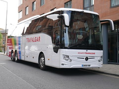 Fairline Coaches Mercedes Benz Tourismo M3 BV19YHN, in Trafalgar Tours livery, at Lady Lawson Street, Edinburgh, on 4 June 2019. (Robin Dickson 1) Tags: westcoastmotors fairlinecoaches craigofcampbeltown busesedinburgh mercedesbenztourismom3 trafalgartours bv19yhn