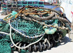 ENTANGLED  Smile on Saturday (Martellotower) Tags: entangled smileonsaturday fishing gear whitby pier nets