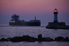 Dawn arrival at Duluth (CN Southwell) Tags: duluth mn minnesota boat lake superior blue hour sunrise
