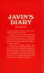 Greenleaf Classics 253 - Harold Crane - Javin's Diary (back) (swallace99) Tags: greenleaf vintage 60s sleaze paperback