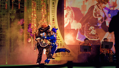 The Clash (toastal) Tags: bangkok chinese chinesenewyear dtrutjin iconsiam thailand action colorful fight martialarts play smoke stage opera chineseopera ngiew performance happyplanet asiafavorites
