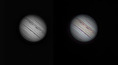 20190703 22-59UT Jupiter IR & IRRGB (Roger Hutchinson) Tags: jupiter planets london space astronomy astrophotography celestron celestronedgehd11 zwo asi174mm