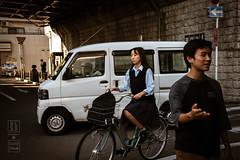Kyoto Street Rhythm (shapeshift) Tags: asia automobiles bicycle davidpham davidphamsf documentary japan kyoto overpass people shapeshift street streetphotography transport transportation travel vehicles kyōtoprefecture