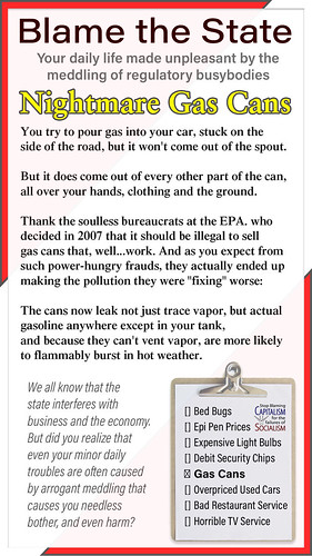 Thank the State: Nightmare Gas Cans