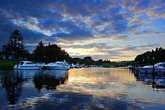 Carrybridge. (carolinejohnston2) Tags: sunset fermanagh lake water reflection sky clouds ireland lougherne evening landscape outdoors
