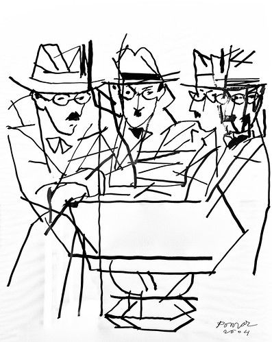 Fernando Pessoa Triple Portrait (2004) - Julio Pomar (1926-2018)