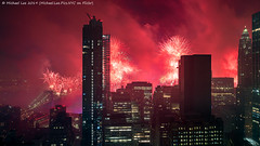 Macy's 2019 July 4 Fireworks (20190704-DSC01156-Edit) (Michael.Lee.Pics.NYC) Tags: newyork fireworks macys july4 independenceday aerial hotelview millenniumhilton lowermanhattan eastriver brooklynbridge night longexposure architecture cityscape sony a7rm2 zeissloxia21mmf28
