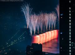 Macy's 2019 July 4 Fireworks (20190704-DSC09622) (Michael.Lee.Pics.NYC) Tags: newyork fireworks macys july4 independenceday aerial hotelview millenniumhilton lowermanhattan eastriver brooklynbridge night longexposure architecture cityscape sony a7rm2 fe24105mmf4g
