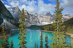 Moraine Lake (ashockenberry) Tags: ashleyhockenberryphotography wild wilderness eco ecosystem travel tourism forest beautiful beauty nature naturephotography majestic mountains landscape park trees vacation canada canadian rockies rocky banff national alberta green scenic scenery sky