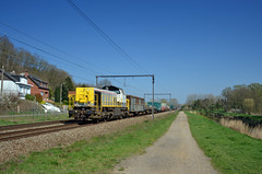 Westbound mixed freight @ Testelt (Wesley van Drongelen) Tags: nmbs sncb b logistics cargo lineas br baureihe rh reihe reeks type serie série class hlr 77 hlr77 testelt scherpenheuvel train trein zug