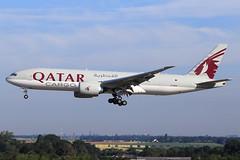 Qatar Airways Cargo  Boeing 777-FDZ A7-BFM (widebodies) Tags: liege lüttich lgg eblg widebody widebodies plane aircraft flughafen airport flugzeug flugzeugbilder qatar airways cargo boeing 777fdz a7bfm