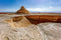 Marlstone Pyramid (Flick'gAbility) Tags: texture israel pit masada marlstone canonef1740mmf4lusm rockformation judaeandesert canoneos5dsr deadseaarea