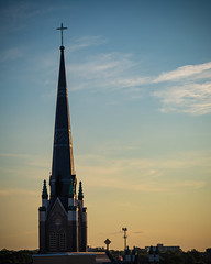 St. Andrew's Church Spire. Little Rock. 2019. (issafly) Tags: arkansas urban building nikond500 explorearkansas d500 naturalstate city nikon littlerock 2019 downtown nikkor1855mm church
