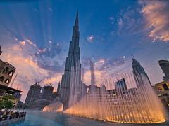 Sky Fall (|MBS-..|) Tags: sunset architecture burj burjkhalifa fountain tokina fujifilm gfx gfx50r downtown dubai medium format mediumformat