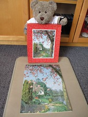 A bit choklit-boxy (pefkosmad) Tags: victory gjhaytercoltd wood wooden used secondhand complete vintage pre1970 cottagegardenscene untitled seriesp5 tedricstudmuffin teddy bear ted animal toy cute cuddly plush fluffy soft stuffed