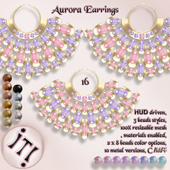 !IT! - Aurora Earrings 16 Image (IT! (Indulge Temptation!)) Tags: itindulgetemptation indulgetemptation it secondlife jewelry offer accessories sl discount new