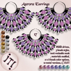 !IT! - Aurora Earrings 17 Image (IT! (Indulge Temptation!)) Tags: itindulgetemptation indulgetemptation it secondlife jewelry offer accessories sl discount new