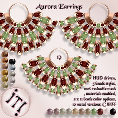 !IT! - Aurora Earrings 19 Image (IT! (Indulge Temptation!)) Tags: itindulgetemptation indulgetemptation it secondlife jewelry offer accessories sl discount new