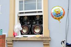 Sharing your music with the neighbourhood (Benn Gunn Baker) Tags: st pauls carnival 019 benn gunn baker canon 550d t2i bristol large speakers sound system spongebob squarepants