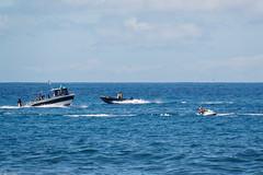 Playa Las Americas, Santa Cruz de Tenerife, Canary Islands, Spain (wildhareuk) Tags: canaryislands canon canoneos500d sea seascape spain tamron18270mm tenerife tenerife2019 water boat jetski tamron img9498dxo