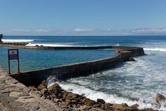 Playa Las Americas, Santa Cruz de Tenerife, Canary Islands, Spain (wildhareuk) Tags: canaryislands canon canoneos500d pool sea seascape spain tamron18270mm tenerife tenerife2019 wall water wave rock tamron img9483dxo