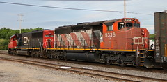 CN 5336, 5452, Chapman, Neenah, 4 Jul 19 (kkaf) Tags: neenah chapman a416 cn sd60 sd402w zebra