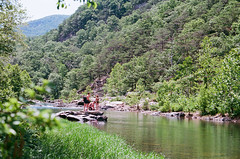 Maury river (nataliekrovetz) Tags: film swimminghole swimming river swimmers goshenpass virginia summer mountains trees nature outdoors nikonfm2 ektar100 35mmfilm 35mm ilovefilm analog