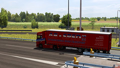 ets2_20190706_224228_00 (Kocaa_009) Tags: scania scaniatrucks scaniav8 scaniar scaniar500 krone kronetrailers kronemegaliner megaliner toll road absped antonbolega slovakia abspedscania abspedontheroad euro6 eurotrucksimulator2 ets2 grass sky michelin tyres truck trailer traffic tree asphalt