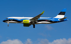 BTI_CS300_YLCSJ_AMS_JUL2019 (Yannick VP) Tags: civil commercial passenger pax transport aircraft airplane aeroplane jet jetliner airliner bt bti airbaltic bombardier cseries cs300 airbus a220 a220300 ylcsj estonia flag anniversary special livery paint scheme netherlands nl europe eu amsterdam schiphol airport ams eham july 2019 approach landing finals runway rwy 18c aviation photography planespotting airplanespotting