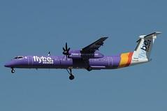 G-FLBC (LIAM J McMANUS - Manchester Airport Photostream) Tags: gflbc flybe jersey be bee fasterthanroadorrail bombardier dh4 dhc8 dhc8400 dash8400 q400 dh8d egcc manchester man